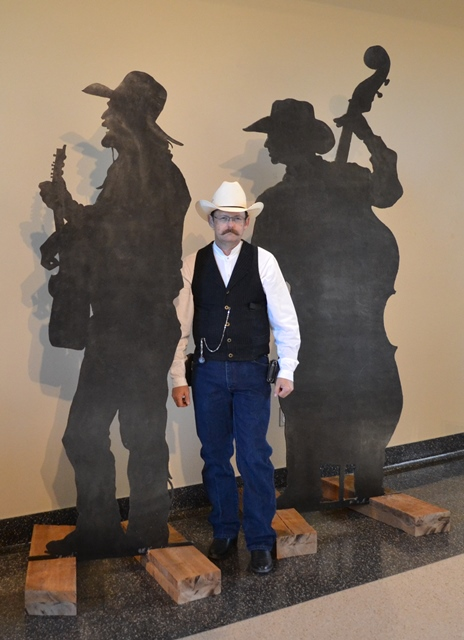 Me with likenesses of Michael Martin Murphey and his bass player, Gary Roller.